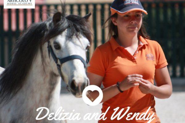 I nostri pony e i nostri istruttori: ottima intesa.