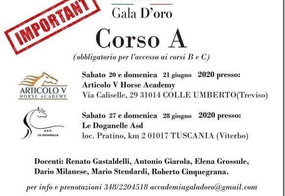 Accademia Gala Oro : Corso A Sabato e Domenica 21 Giugno 2020